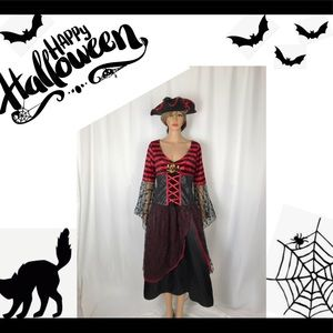 Pirate Wench Costume WITH 3 Point Hat